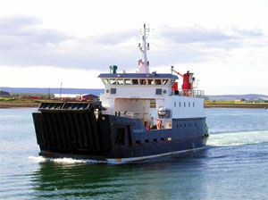 image: Orkney Calmac RoRo freight ferry shipping port harbour island union