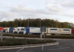 image: Transport Focus UK freight road haulage truck stop lorry parking drivers hours