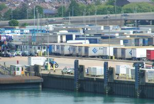 image: UK, EU, trailer, freight, unaccompanied, container, Forth Ports, P&O, Tilbury2,