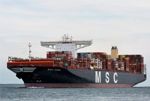 image: US MSC Anna container ship TEU Port of Oakland