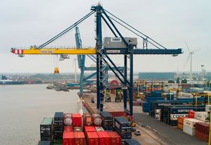 image: London container terminal freight Forth port permanent jobs