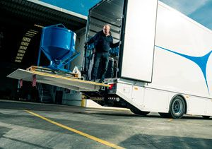 image: UK tail lift cantilever slider DEL ZEPRO