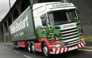 image: Stobart road haulage freight refrigerated logistics chilled warehouse