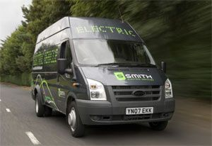 image: Smiths electric vehicles truck fleet freight deliveries commercial Leeds Yorkshire carbon emissions