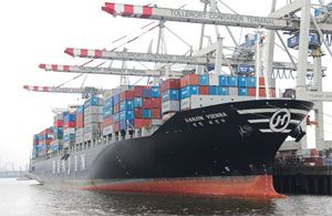 image: Hanjin shipping container freight rates