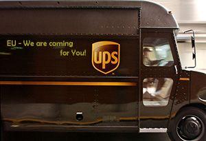 image: European Commission EU TNT UPS FedEx parcel logistics freight suing EC