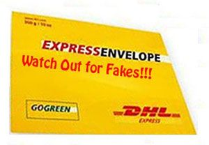 image: DHL Express email scam freight parcel carrier fake invoice