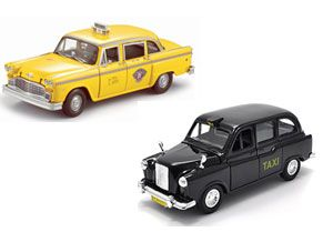 image: US UK China snippets freight transport multimodal cabs taxi black yellow road haulage passenger Norway Europe