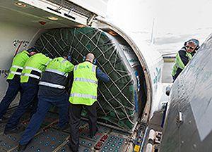 image: Qantas air cargo express freight carrier