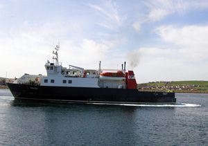 image: Orkney island RoRo ferry service for freight passenger union supplies