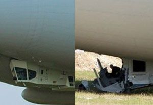 image: UK Hybrid air vehicles Airlander Crash logistics aircraft freight transport HAV blimp balloon