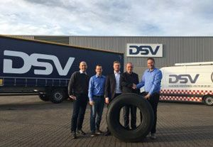 image: DSV UK Danish Scandinavia freight forwarding tyres Westlake tonnages logistics