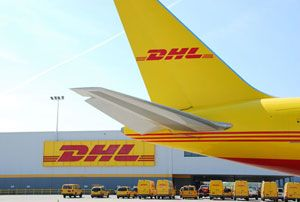image: DHL US Wilmington Cincinnati express air freight logistics cargo CVG jobs hub
