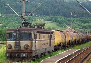 image: Romania rail freight national cargo carrier CFR Marfa