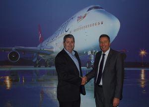 image: UK Virgin Atlantic cargo air freight handling