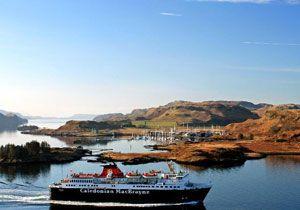 image: UK CalMac freight ferry Hebrides Clyde services Serco RMT Adam Smith