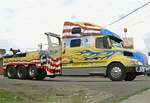 image: Volvo trucks US road haulage operator million miles VNL Vietnam War Veteran Baumgartner