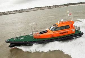 image: UK Thunderbirds pilot boats futuristic vessels Port of London PLA Peel Medway ORC Lord of the Rings
