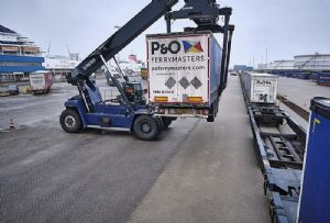 image: Netherlands P&O Ferries Ferrymasters DP World container trailer traffic logistics Silk Road Europoort