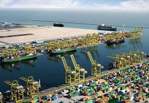 image: Qatar Hamad container port hub QTerminals Doha logistics