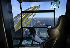 image: UK simulator Modal crane training OSC