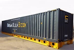 image: US CakeBoxx Technologies break bulk cargo freight shipping container 45 foot flat rack