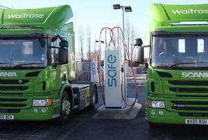 image: UK, biomethane, HGVs, carbon, emissions, trucks, gas, vehicle, network, Volvo, ford, RHA,
