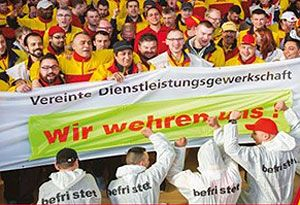 image: Deutsche Post DHL Germany unions freight logistics postal staff AGM transport delivery