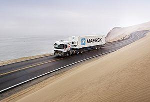 image: Maersk container shipping line port logistics APM Terminal Pentalver
