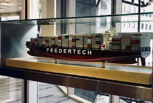 image: Denmark Singapore container feeder short sea cargo tonnes DP World Feedertech