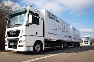 image: Germany autonomous truck HGV freight logistics platooning trial European