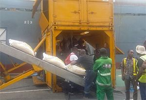 image: Madagascar dock workers ITF transport federation container freight conventional