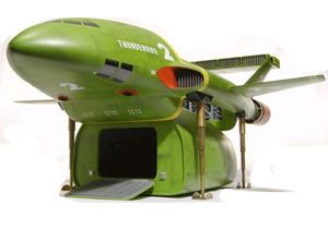 image: UK intermodal freight shipping container Thunderbird 2 drone technology VTOL transportation 4x4 Aviation