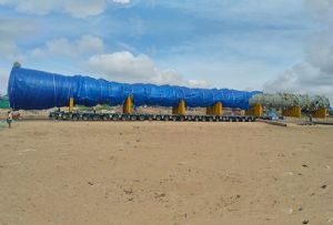 image: India, Allcargo. Logistics, Multimodal, road, transport, road, heavy lift, out of gauge,