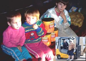 image: Romania UK Jungheinrich freight fork lift truck charity