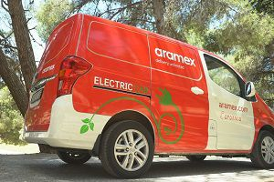 image: Aramex electric vehicles Jordan Amman the freight forwarding and logistics group courier fleet climate change mitigate
