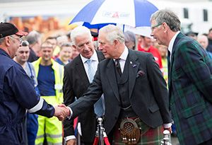 image: UK Gray & Adams 15.65 Metre Temperature Controlled Trailer Prince Charles visit