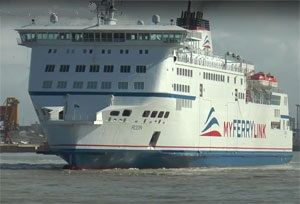 image: France RoRo freight ferry arson blackmail Eurotunnel SeaFrance SCOP DFDS MyFerryLink
