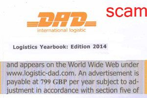 image: Germany logistics yearbook scam telex directory advertising freight and shipping
