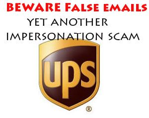 image: UPS express parcel freight scam e mail FedEx .zip