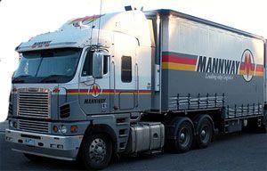 image: Australian Trucking Company Mannway Logistics Melbourne, Victoria depots Sydney New South Wales Brisbane Queensland Ferrier Hodgson Partners Road Transport Group  Linfox Toll vehicles multi modal rail