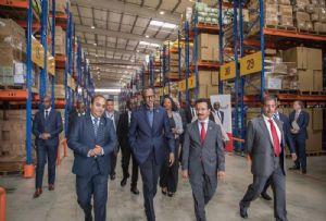 image: Kigali DP World 50,000 TEU Logistics Platform truck