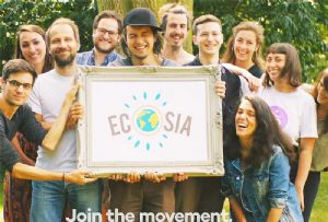image: Germany Schenker ecosia search engine logistics plant trees environment