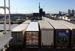 image: UK Belgium DFDS fire Finlandia Seaways vessel cargo ship RoRo freight ferry
