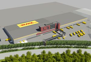 image: DHL Belgium Brussels cargo hub distribution express freight