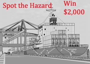 image: Chamber of Shipping hazards sea marine insurers safety competition seafarers ICS spot the hazard $ thousands
