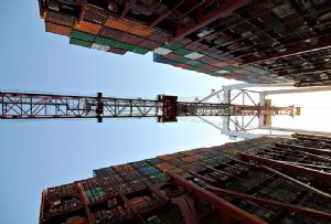 image: China UK silk road logistics freight road rail multimodal sea barges