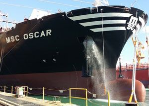 image: MSC Oscar Jotun Norway hull coating container shipping TEU