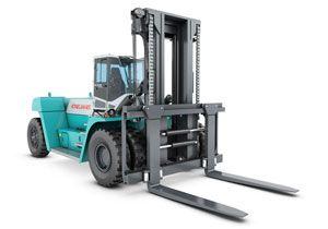 image: Konecranes Finland Euroports Rauma materials handling forklift truck port timber paper import export cargo