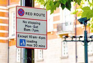 image: UK London Mayor Sadiq Khan Road Haulage Freight PCN Grayling bus lane red route parking